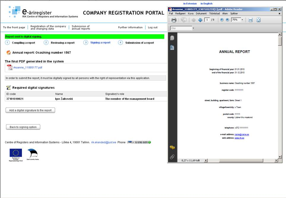 1014_e-Annual Report_E-Business_Register_filing_report
