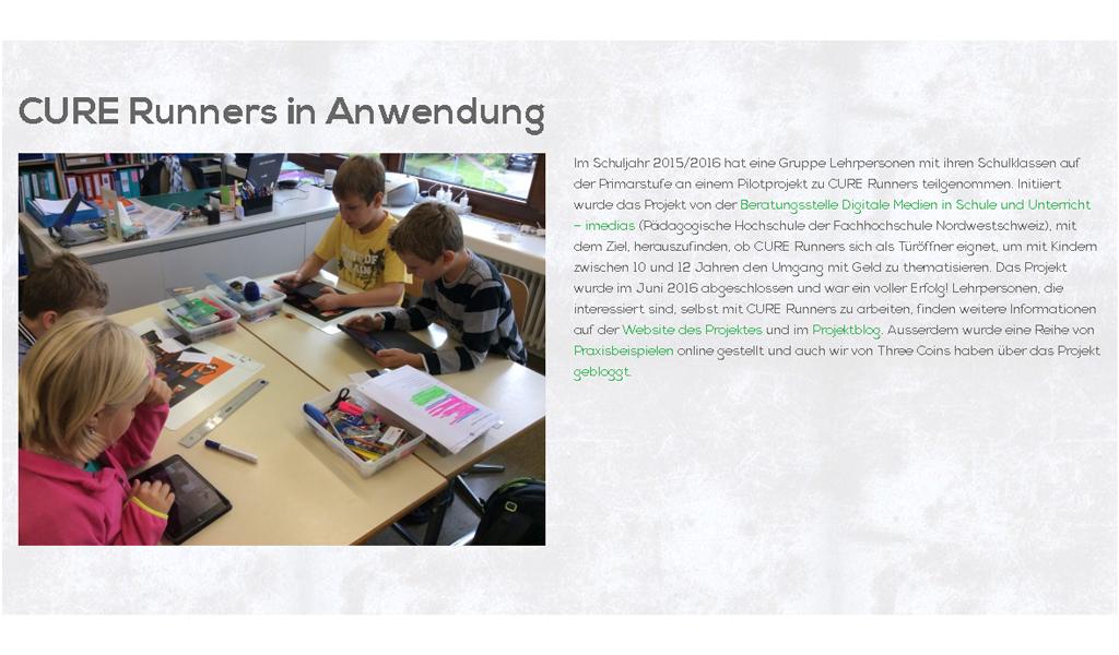 CureRunners - Schools