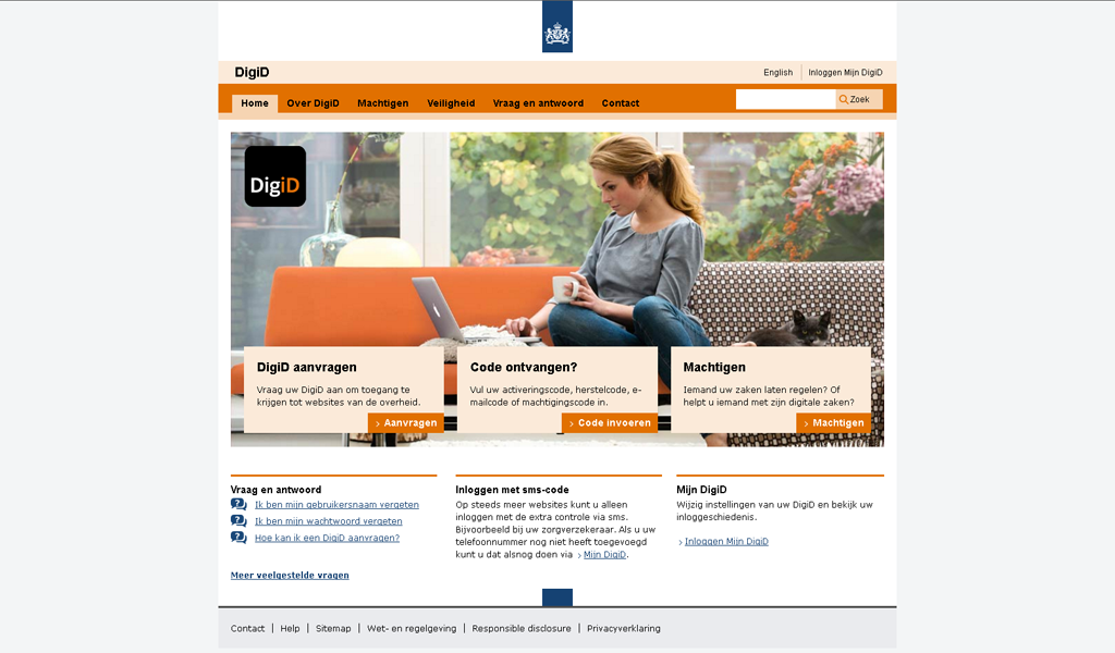 DigiID - Main page