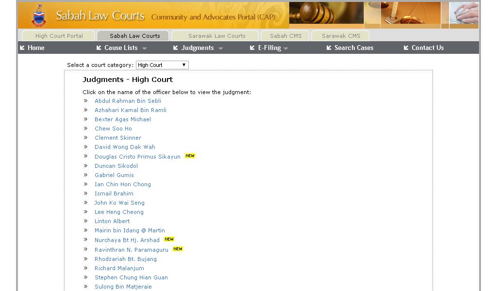 High Court - Judgements