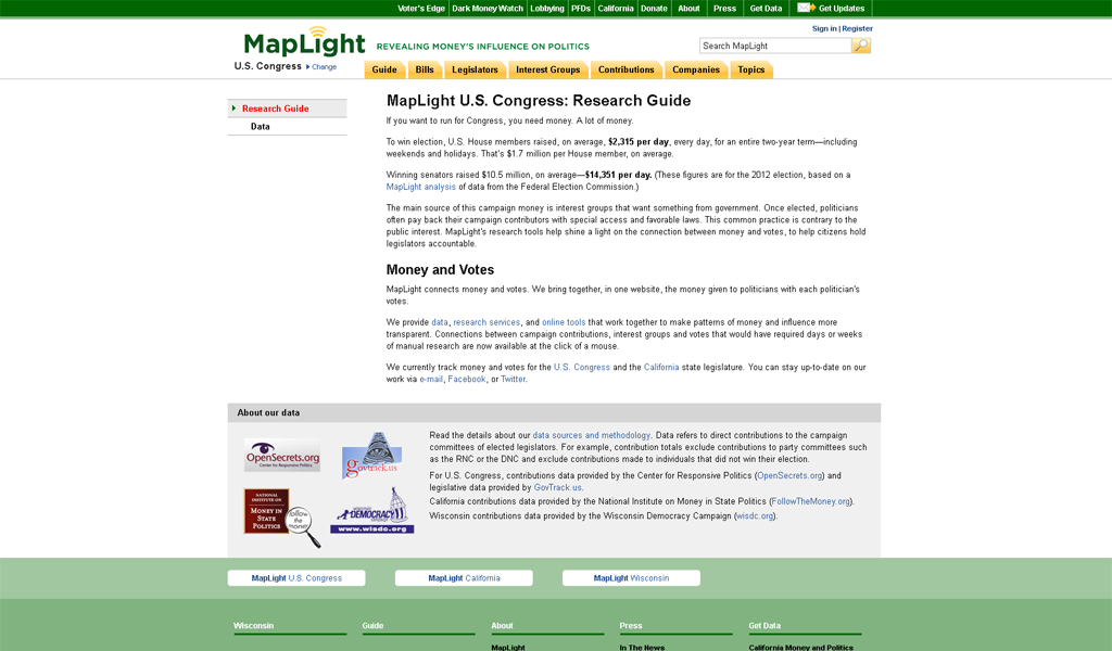 MapLight - Research