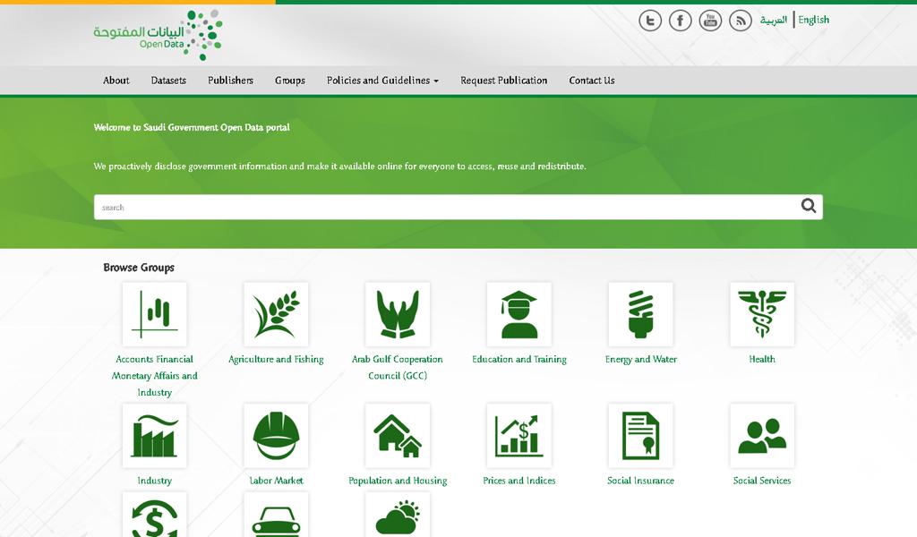 Saudi e-Gov - Open data