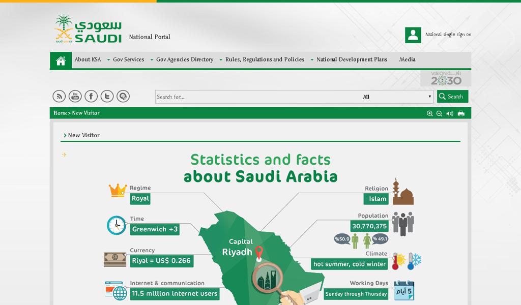 Saudi e-Gov - Statistics