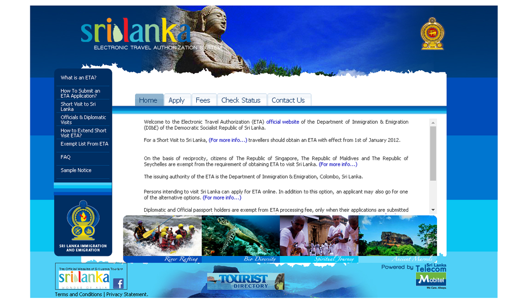 SriLanka IBMS - Menu