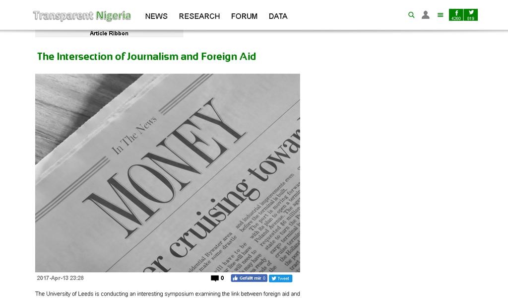 Transparent Nigeria - Articke