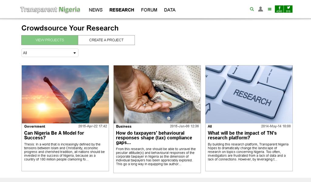 Transparent Nigeria - Research