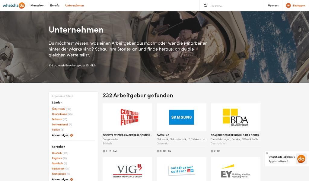 WhatchaDo-Unternehmen