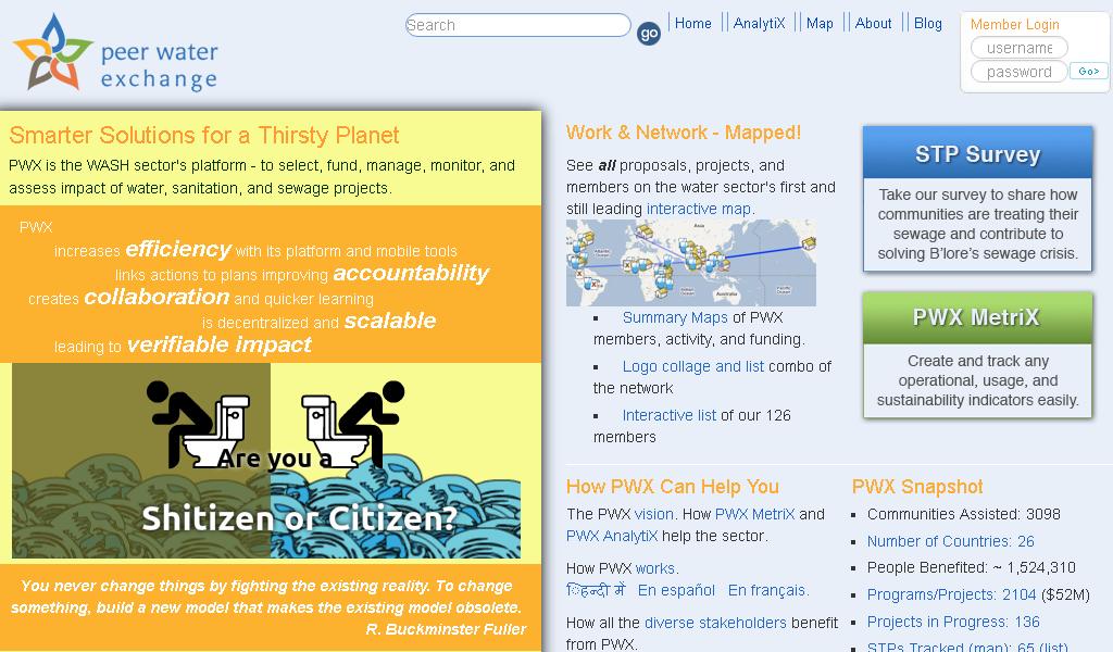 Peer Water - Main page