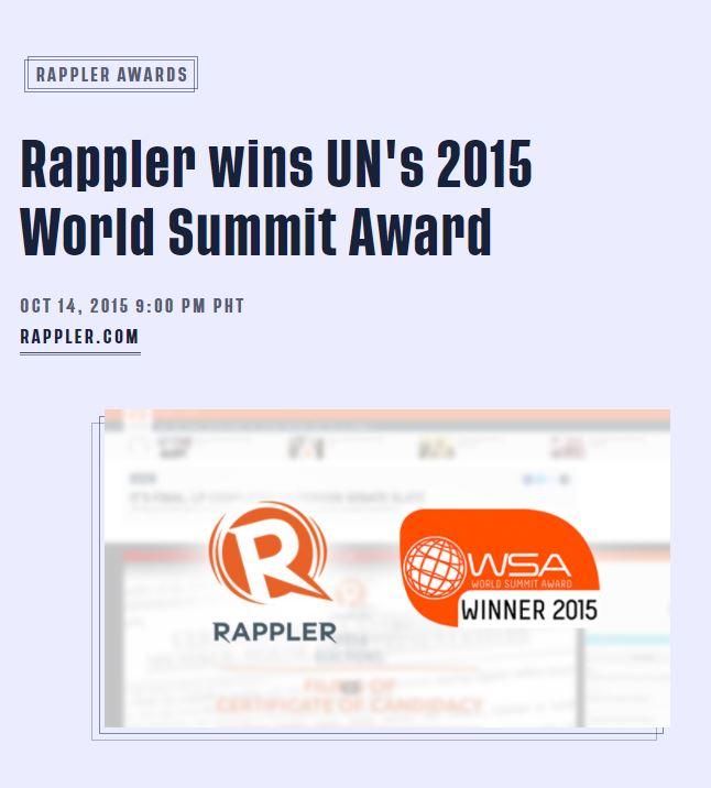 WSA Rappler News item